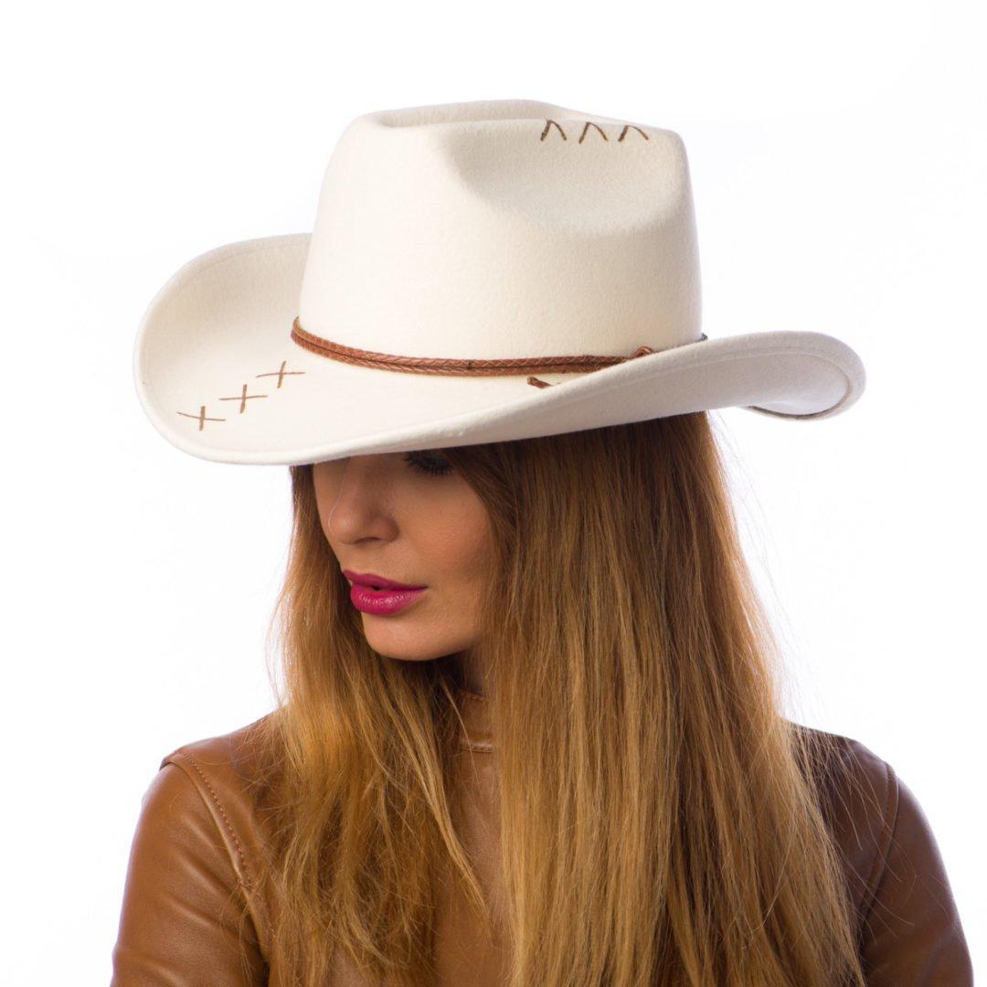 Palarie Cowboy bianco