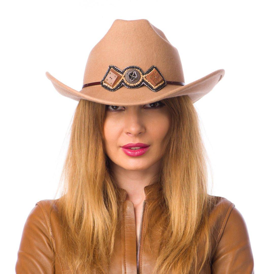 Palarie Cowboy camel