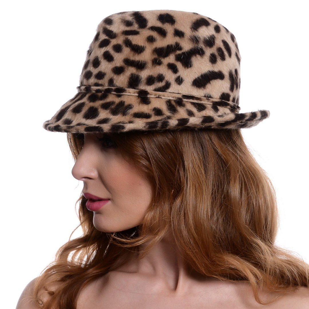 Palarie Beauty, animal print