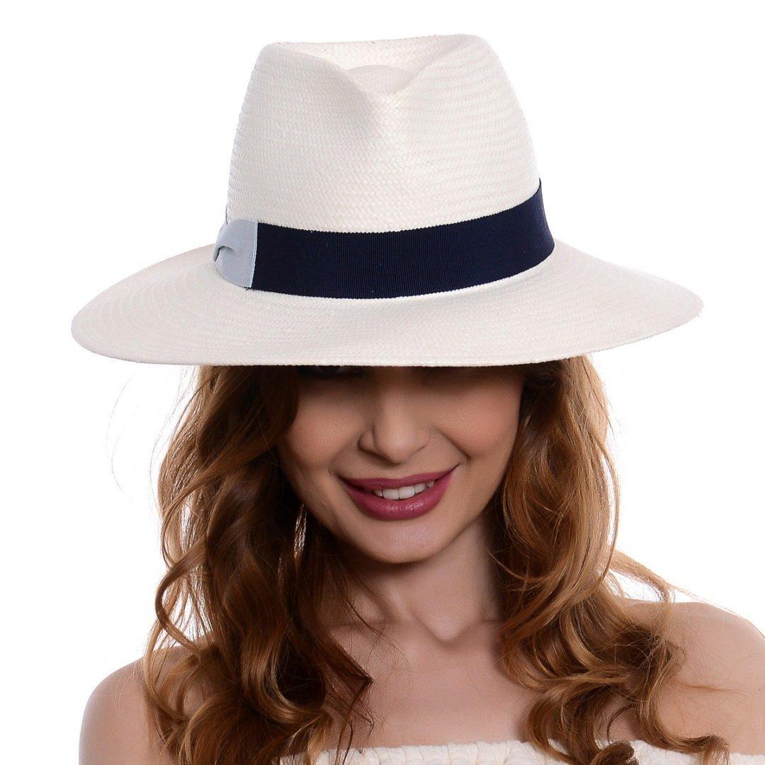 Pălărie Delice alb/albastru hartie