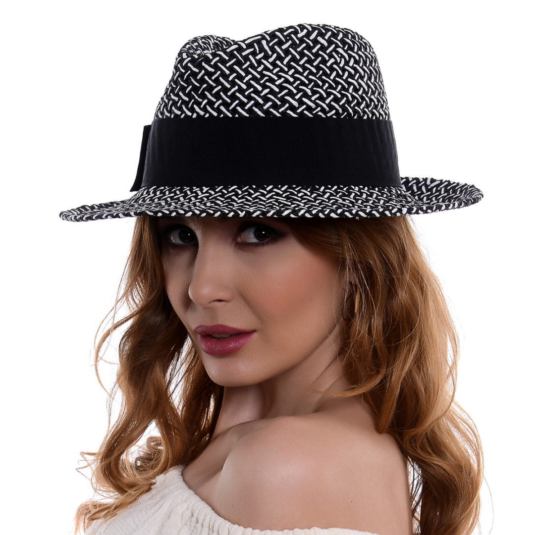 Pălărie Mozaik negru/alb hartie