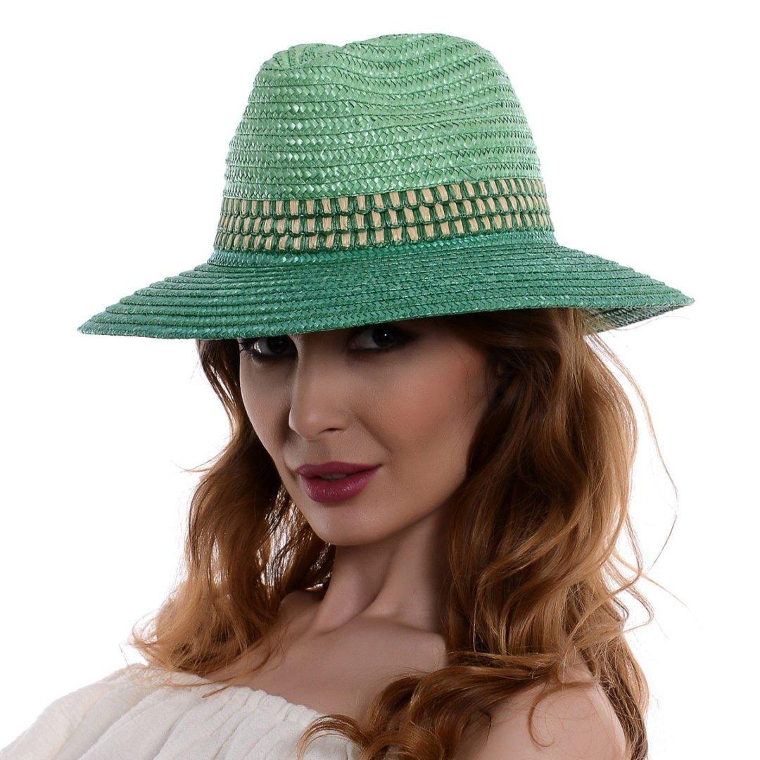 Pălărie Fancy verde paie