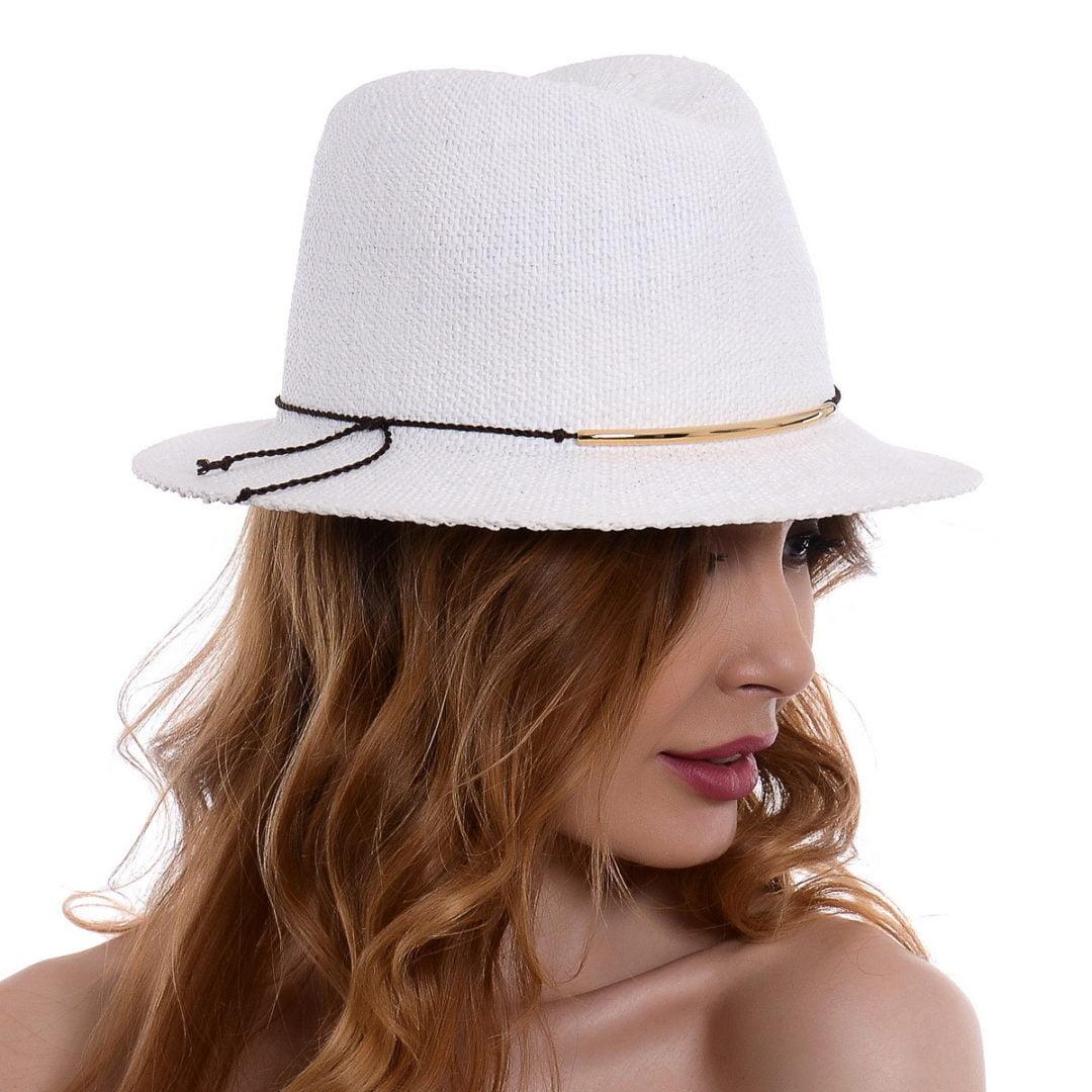 Pălărie Sky alb hartie