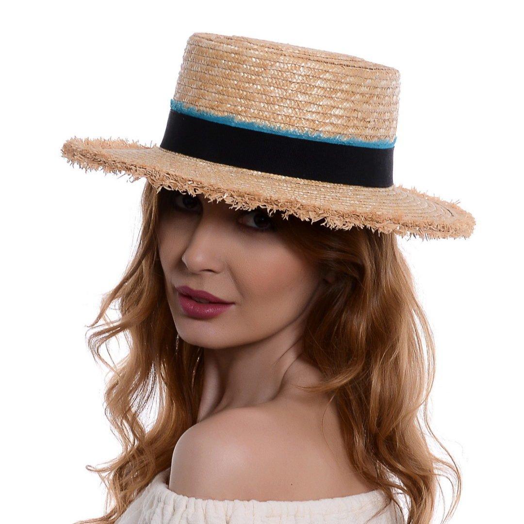 Pălărie Ruffles 3 paie/rafie