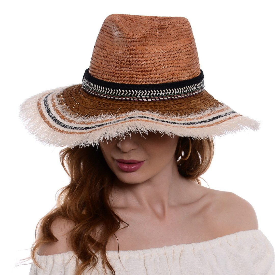 Pălărie Ruffles 2 rafie/hartie