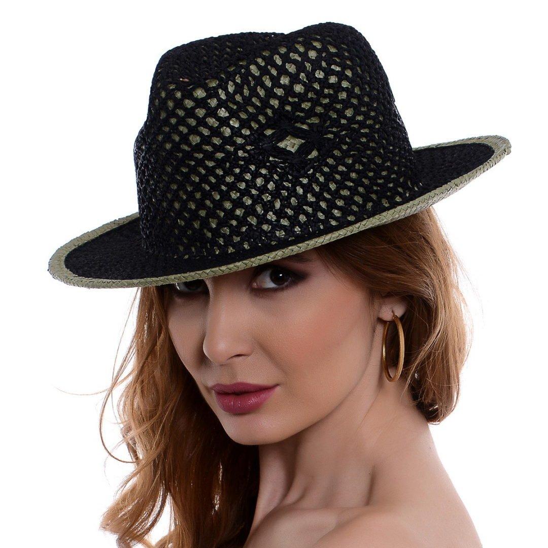 Pălărie Mozaik negru/verde hartie