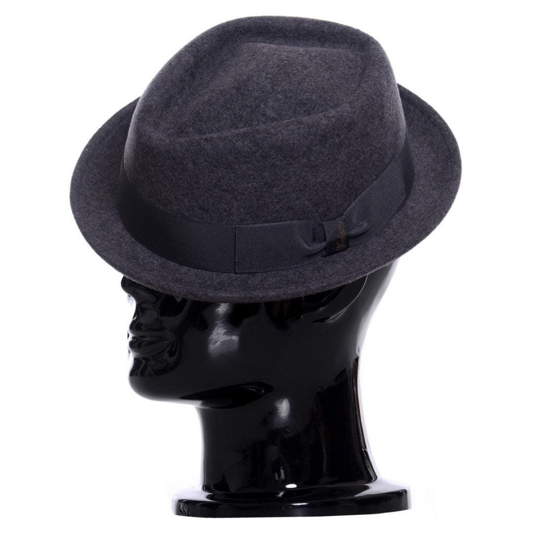 Pălărie pork-pie Frank-grigio melange