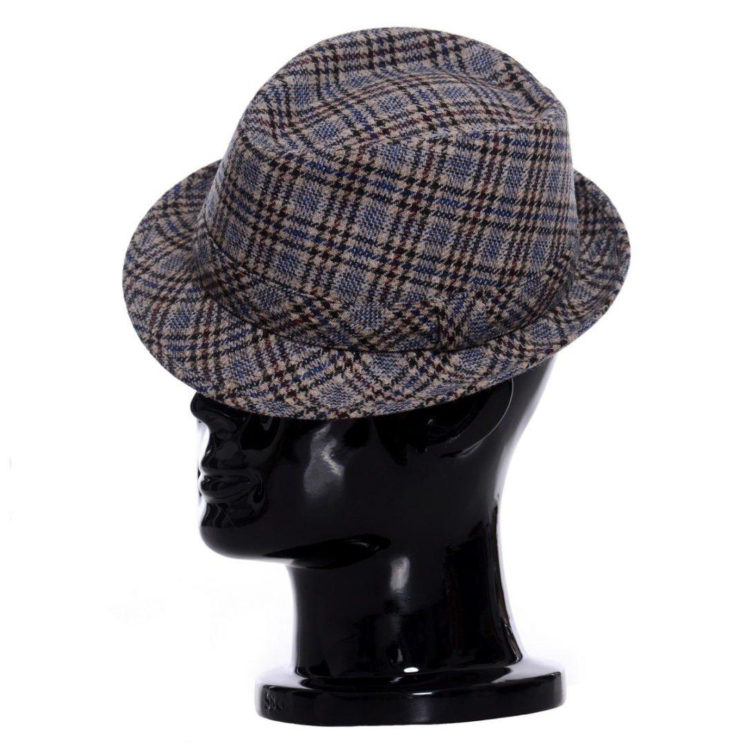 Pălărie Santy marone tessuto