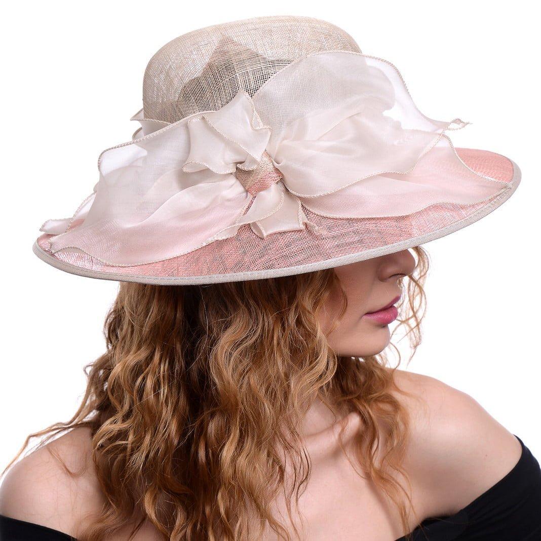 Palarie Magnolie,  roz/beige