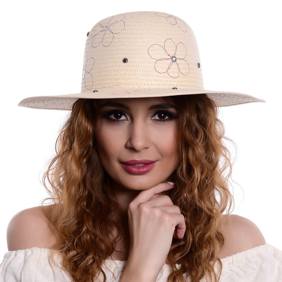 Pălărie flower naturale/ fluxia