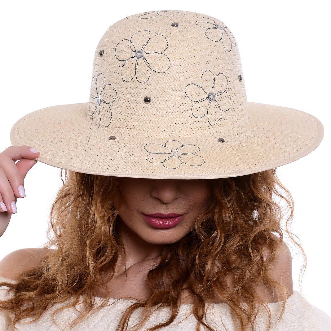 Pălărie flower naturale/blu