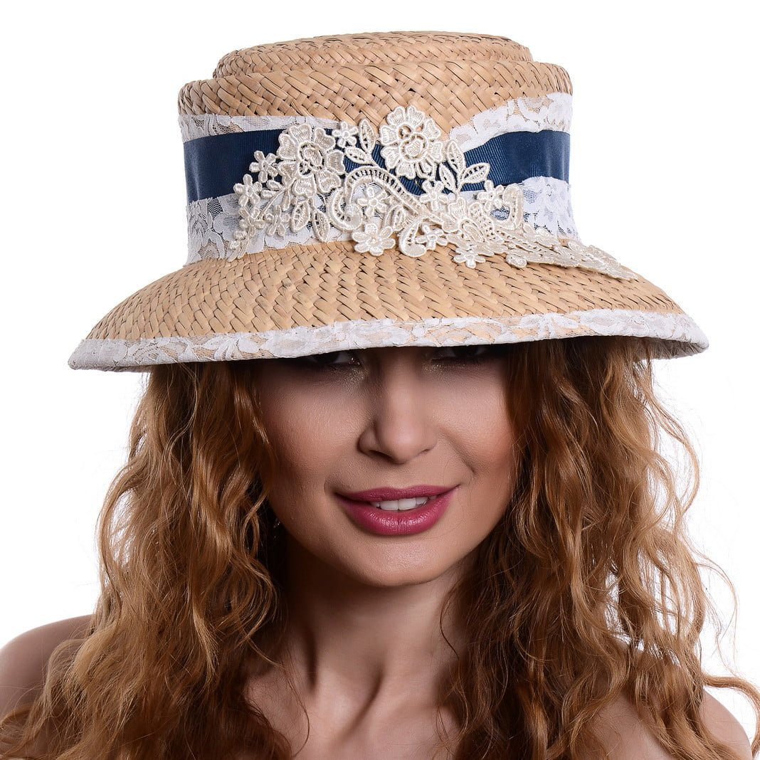 Pălărie cloche naturale/avion
