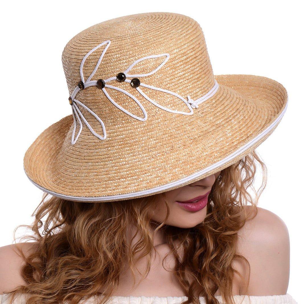 Pălărie Wave naturale/bianco