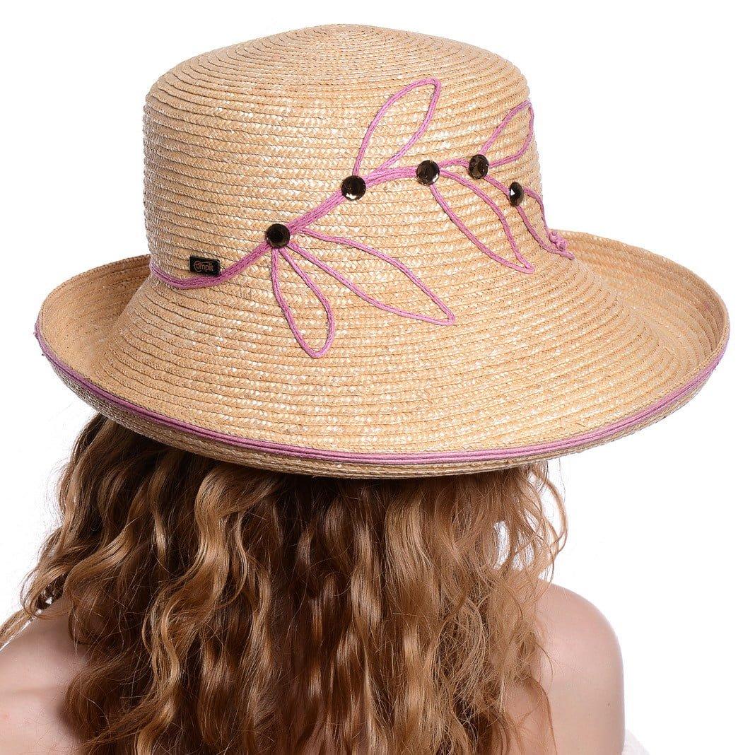 Pălărie Wave naturale/rosa