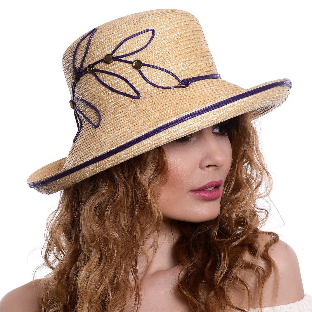 Pălărie Wave naturale/viola