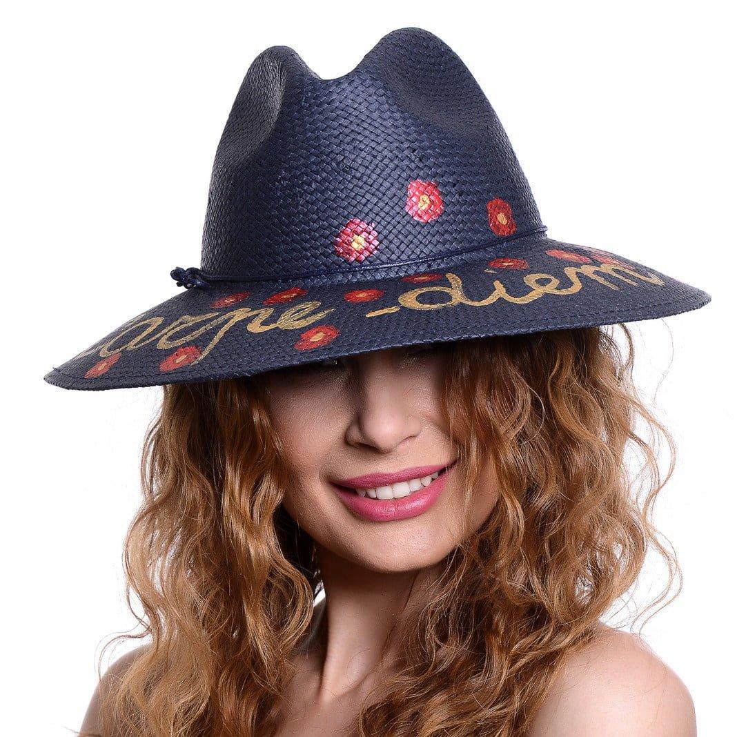 Pălărie Chill carpe diem blu
