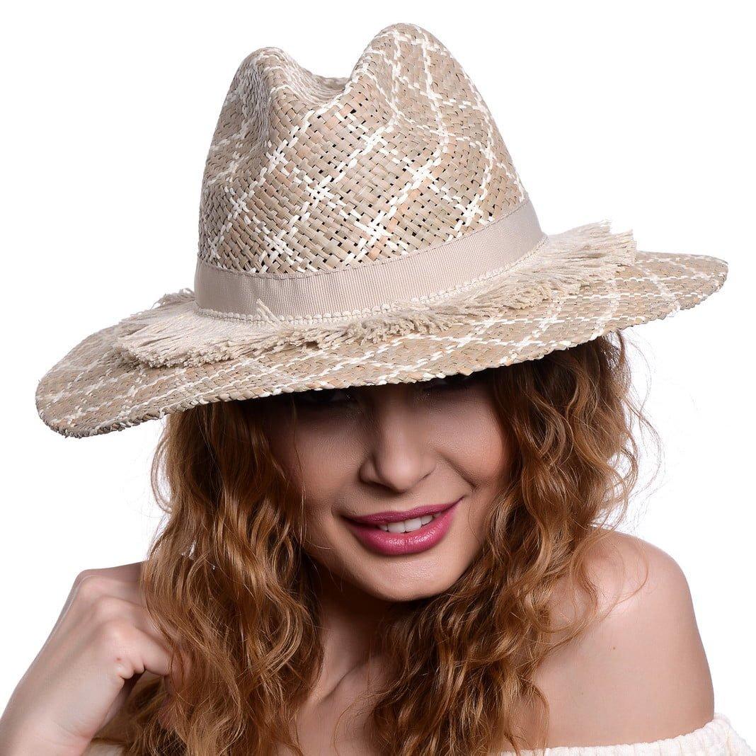Pălărie Rombi alb