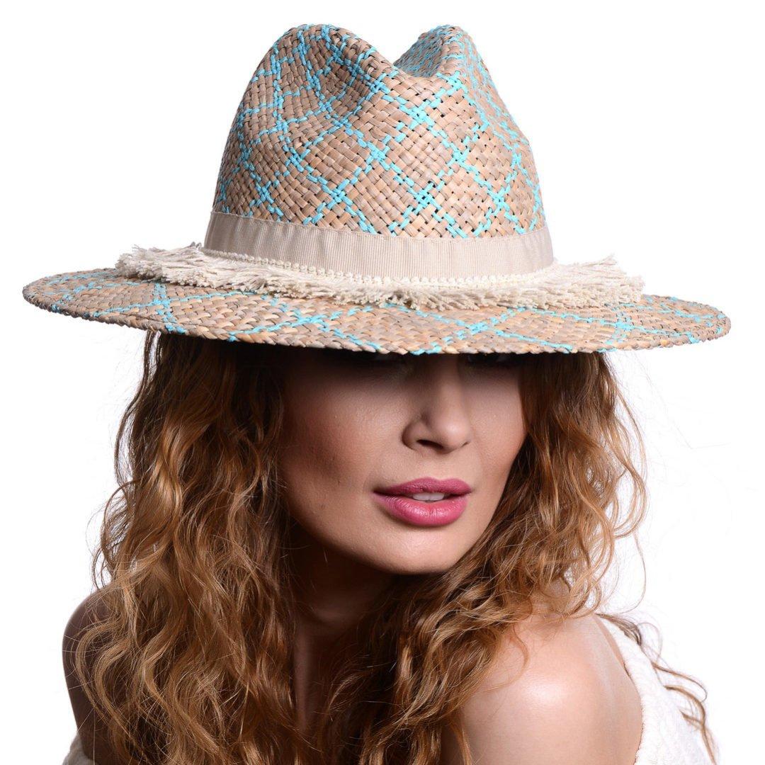 Pălărie Rombi turcoaz