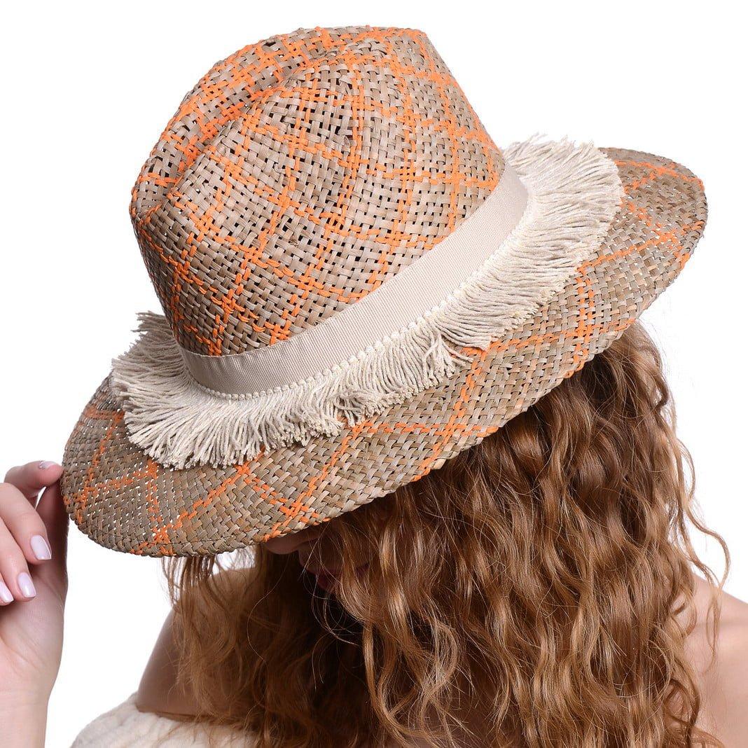 Pălărie Rombi orange