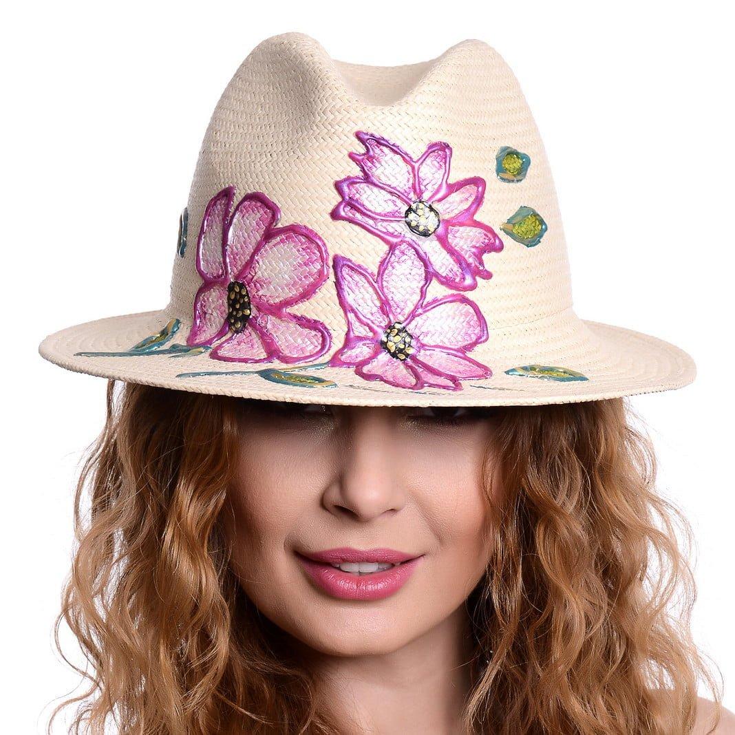 Pălărie Loft flower pink