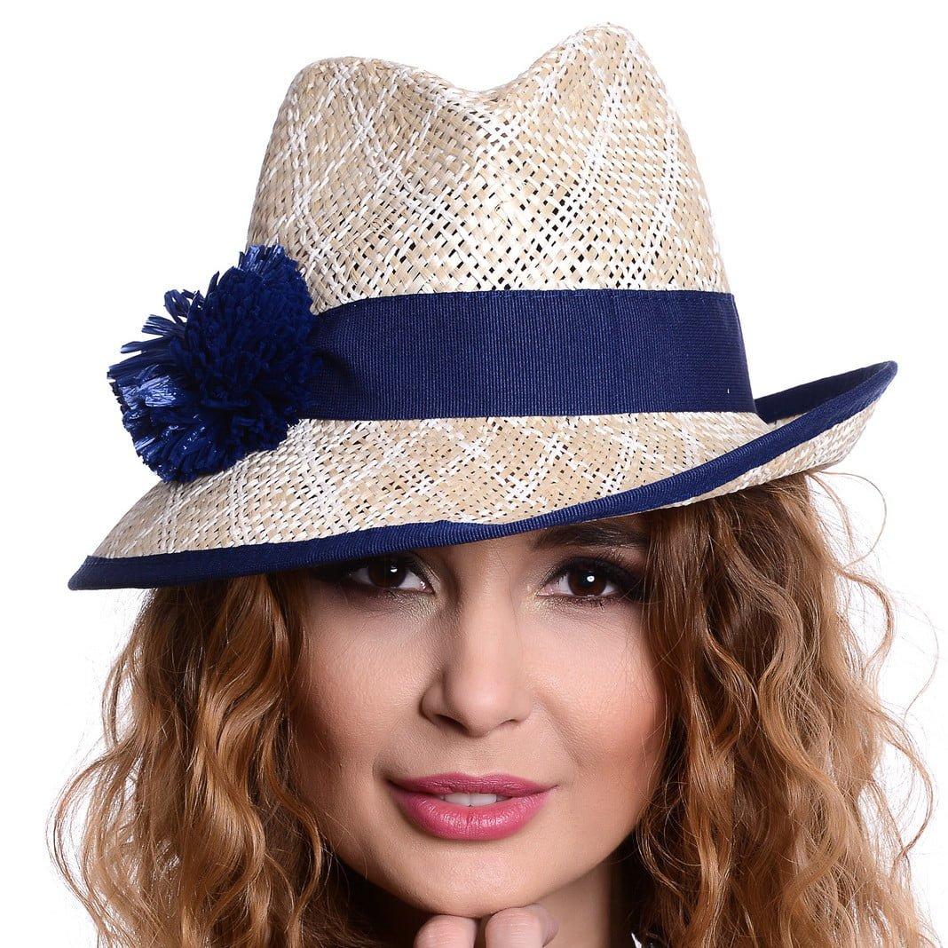 Pălărie Loft naturale/blu