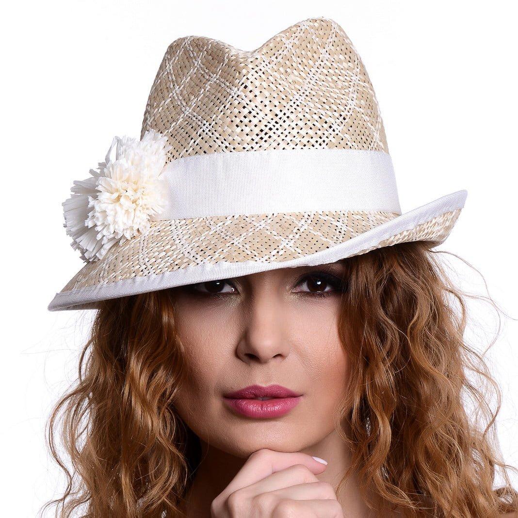 Pălărie Loft naturale/bianco