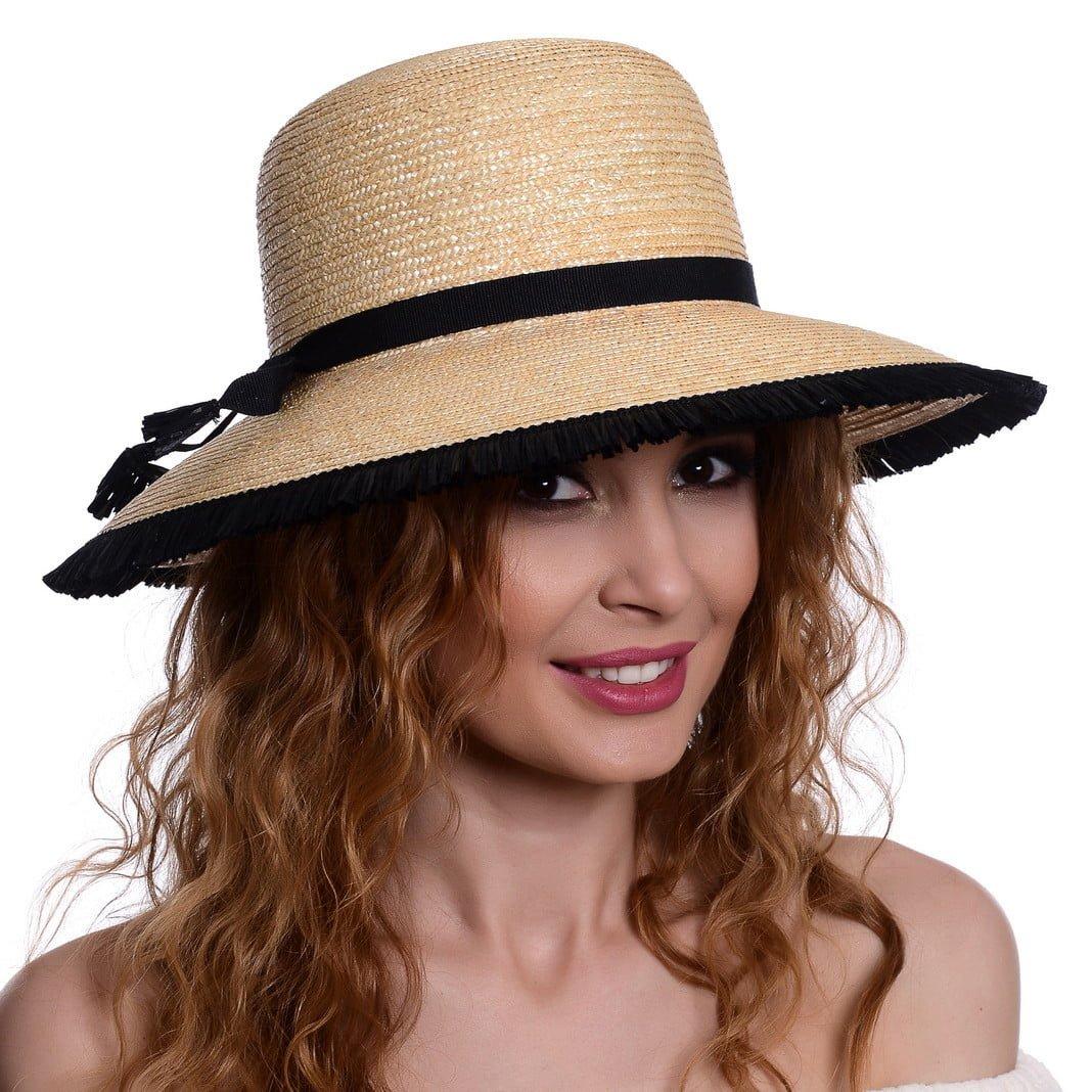 Pălărie Mara naturale/nero