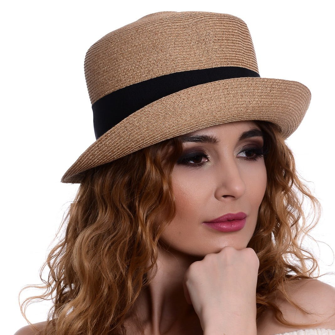 Pălărie Treccia naturale/nero