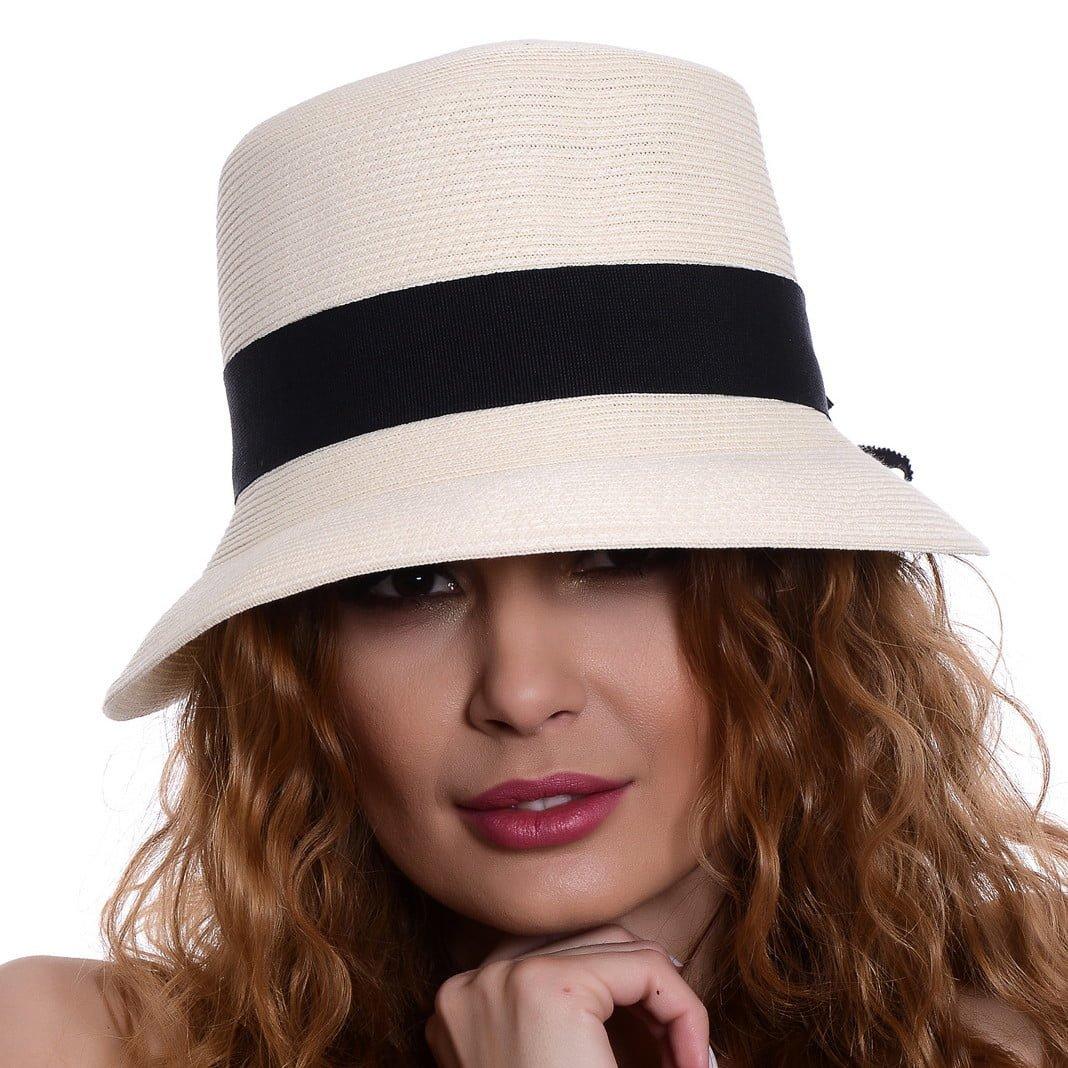 Pălărie Treccia bianco/nero