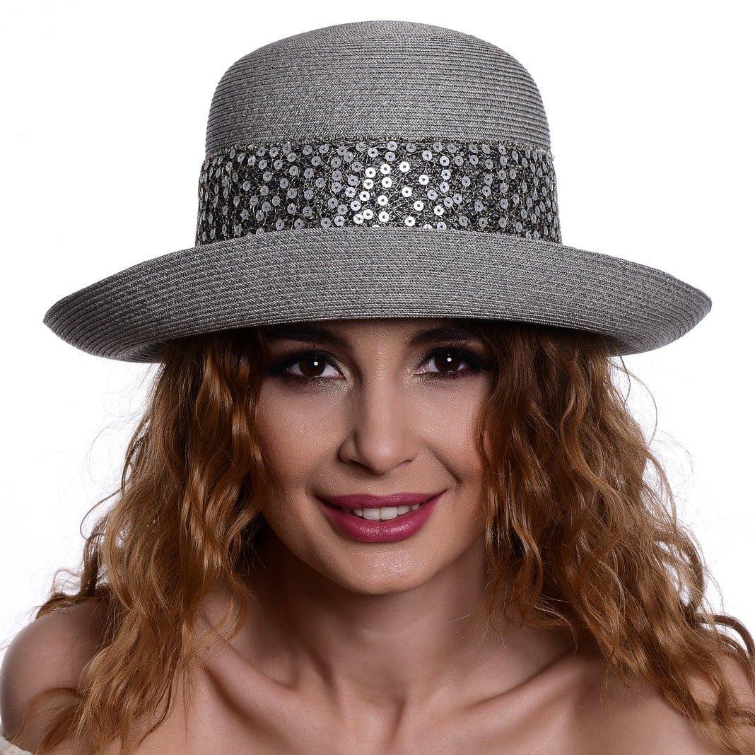 Pălărie Treccia grigio/argento