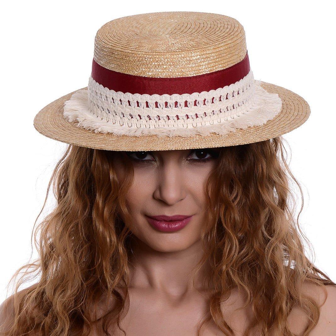 Pălărie Venezia white/red
