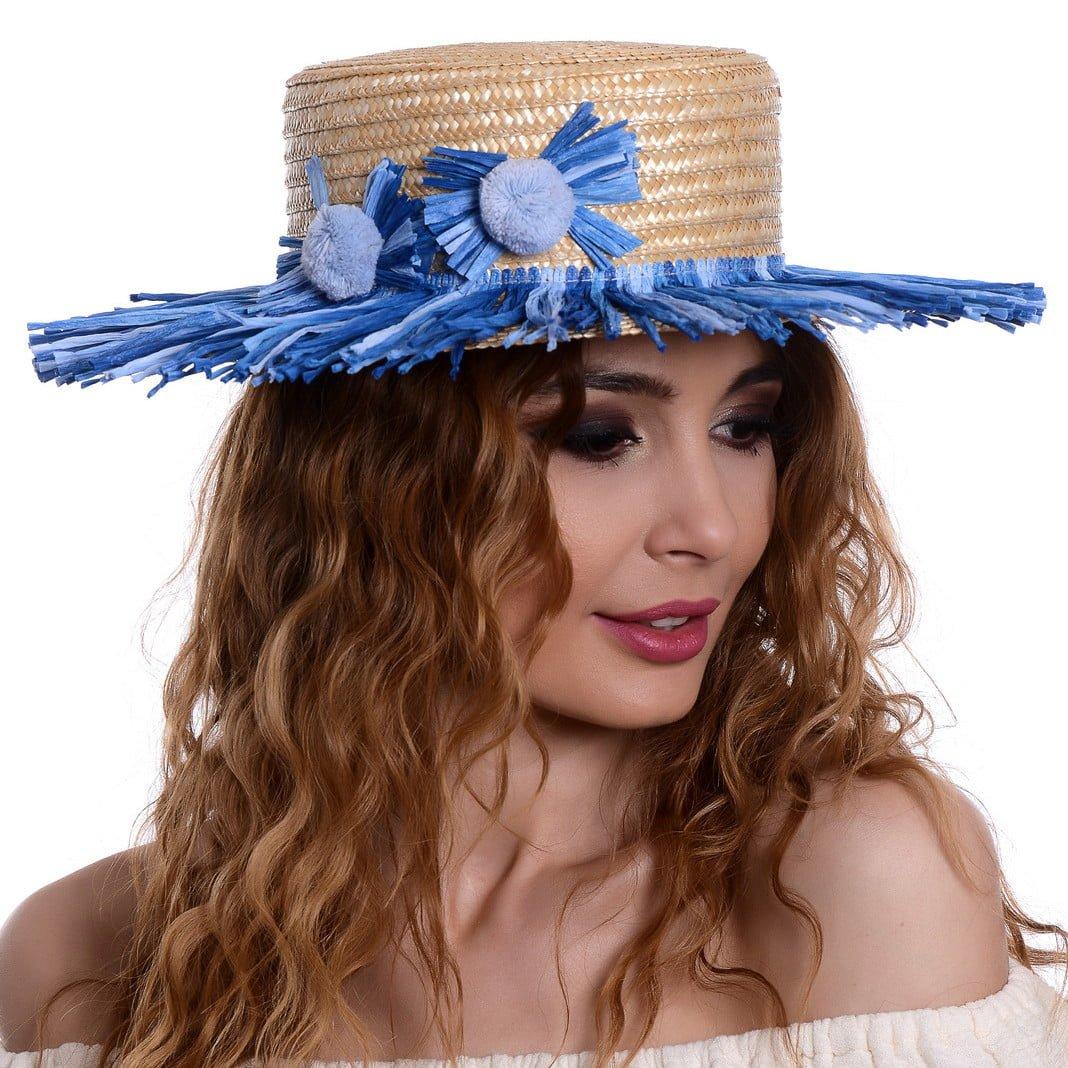 Pălărie Venezia raffia jeans