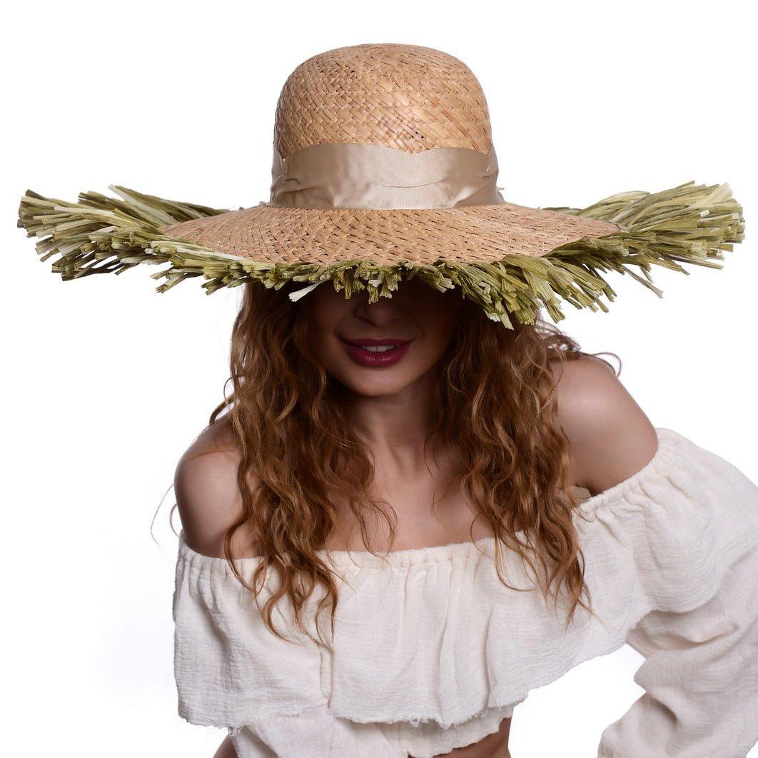 Pălărie Jazz naturale/verde