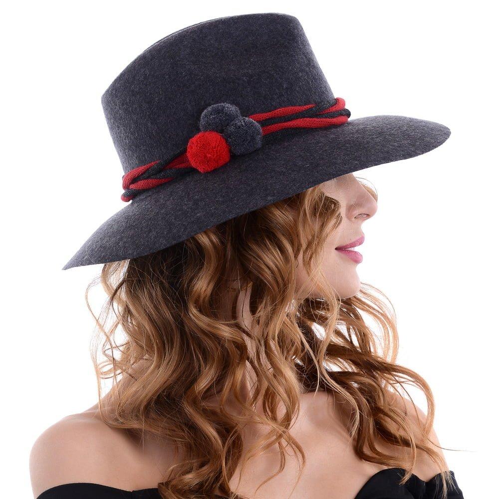 Pălărie Kelya, ciucuri rosii