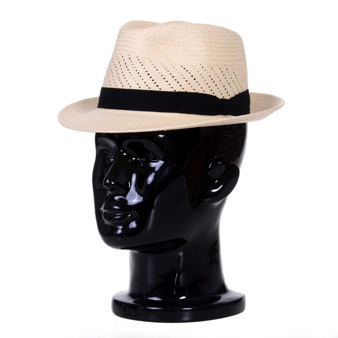 Pălărie Panama Marco randa naturale/bandă neagră