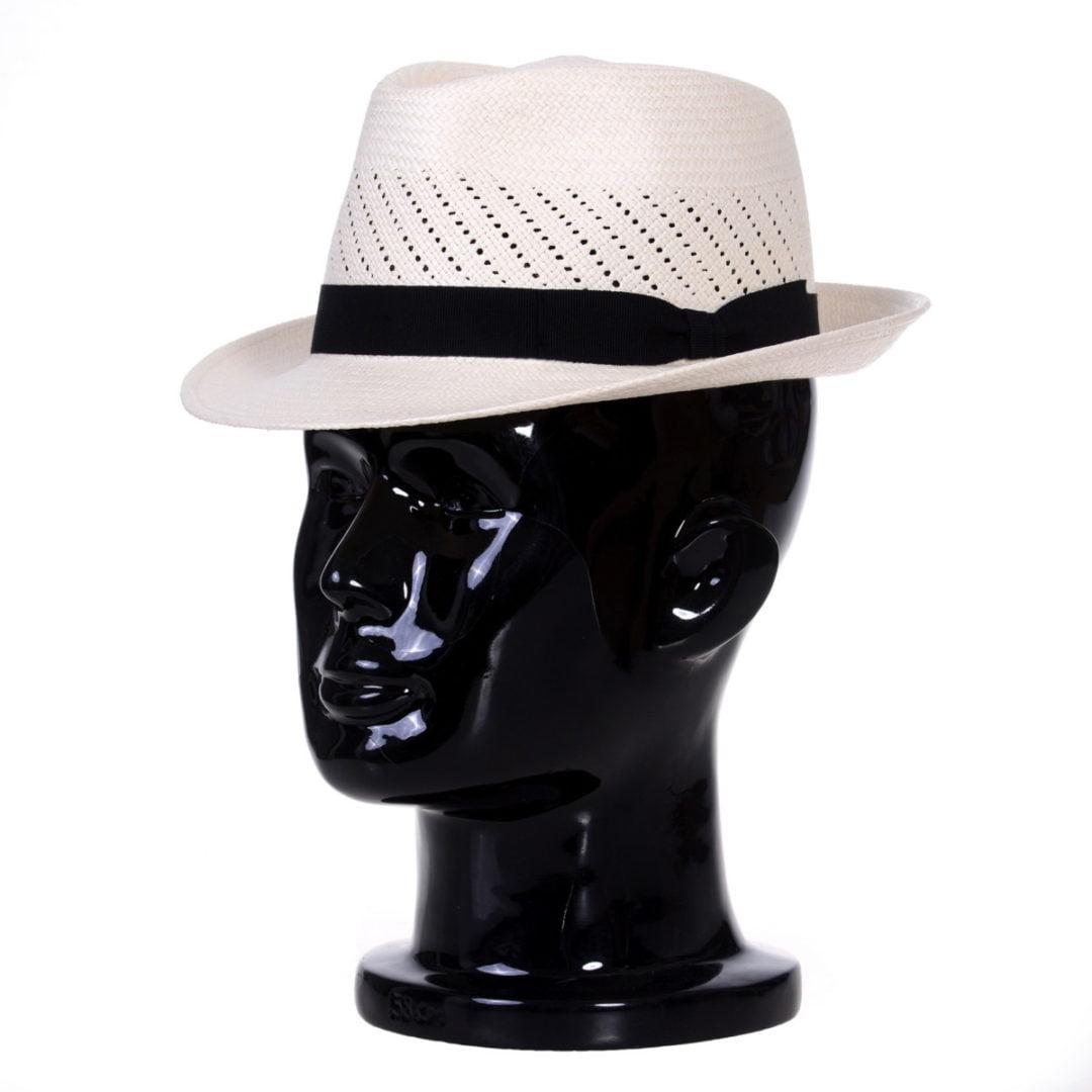 Pălărie Panama Marco randa bianco/bandă albastră