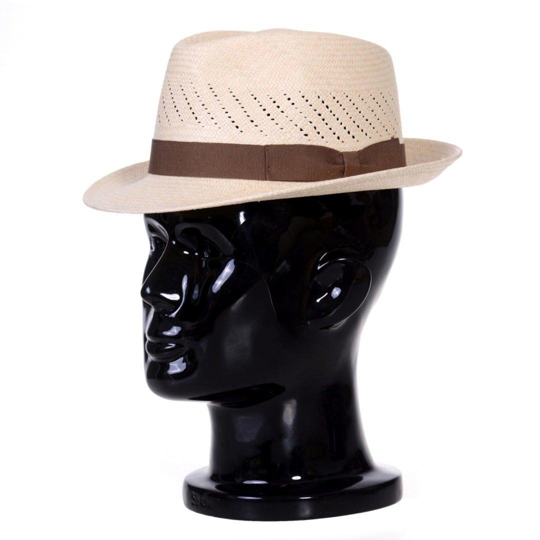 Pălărie Panama Marco randa naturale/bandă maro
