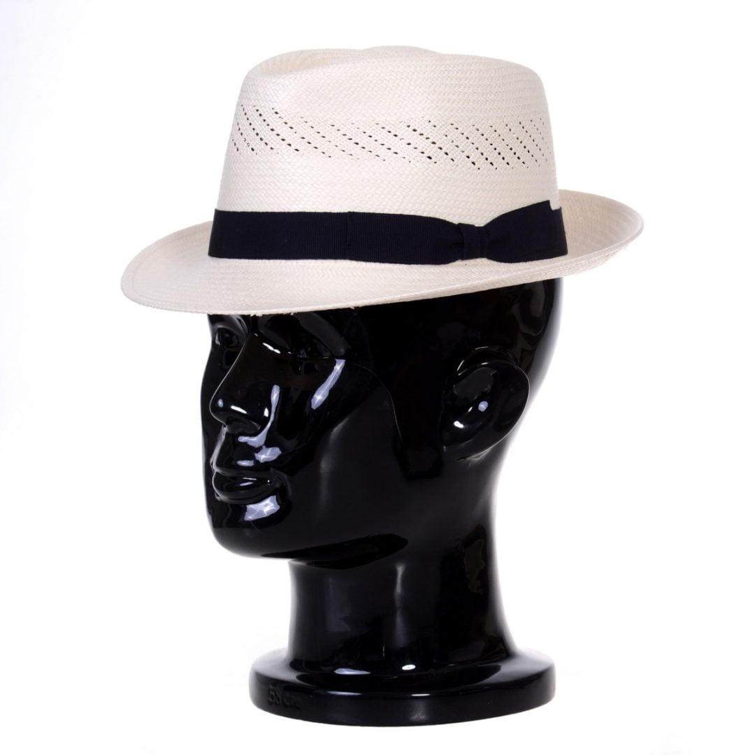 Pălărie Panama Marco randa bianco/bandă neagra