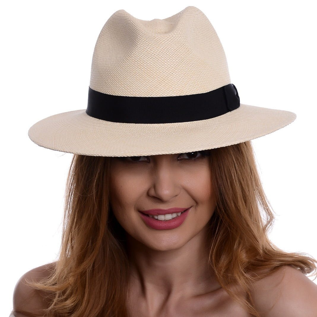 Pălărie Panama Bonnie naturale/nero