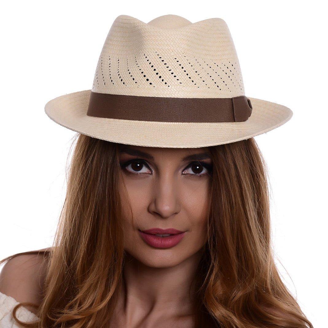 Pălărie Panama Marco naturale/bandă maro