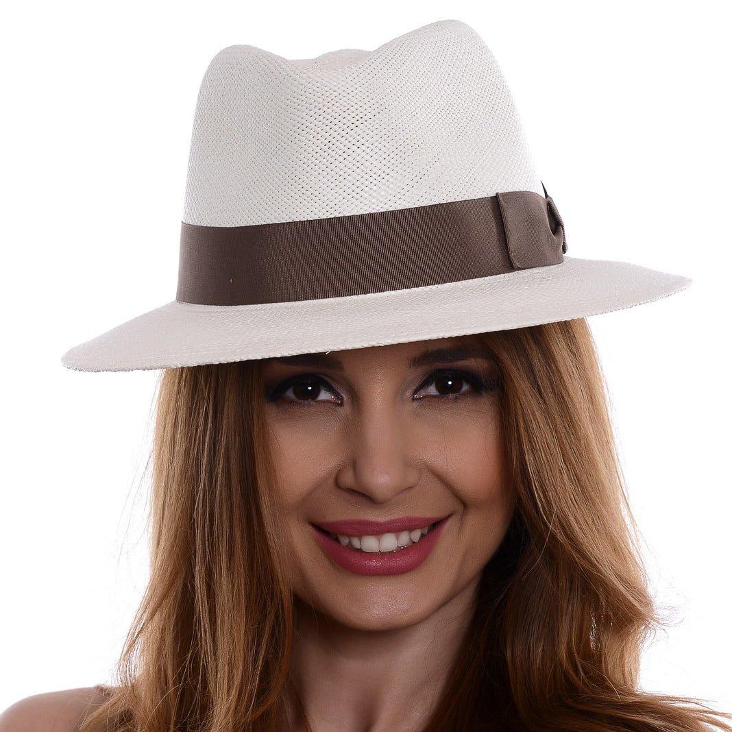 Pălărie Panama Merlin bianco/moro