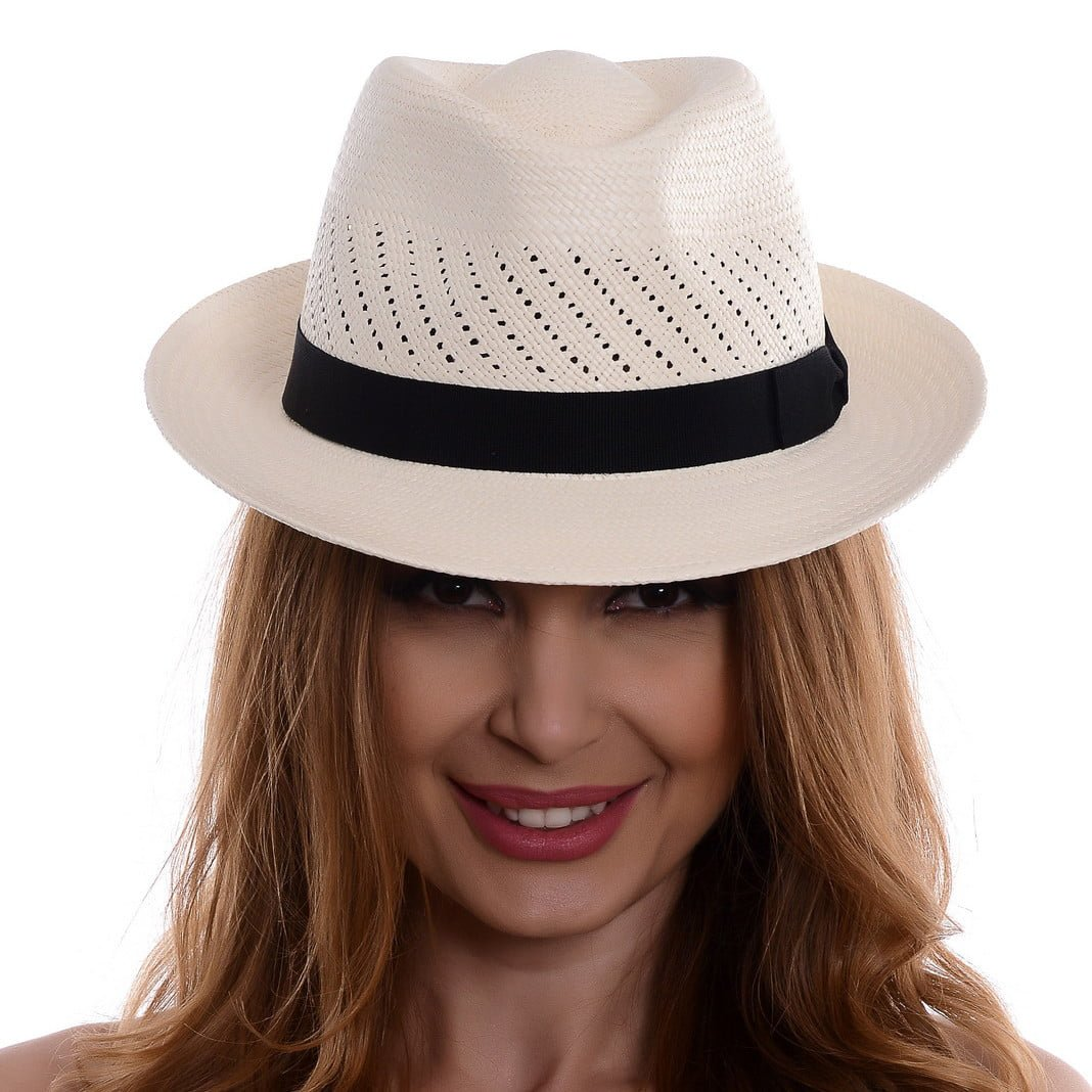 Pălărie Panama Marco bianco/nero
