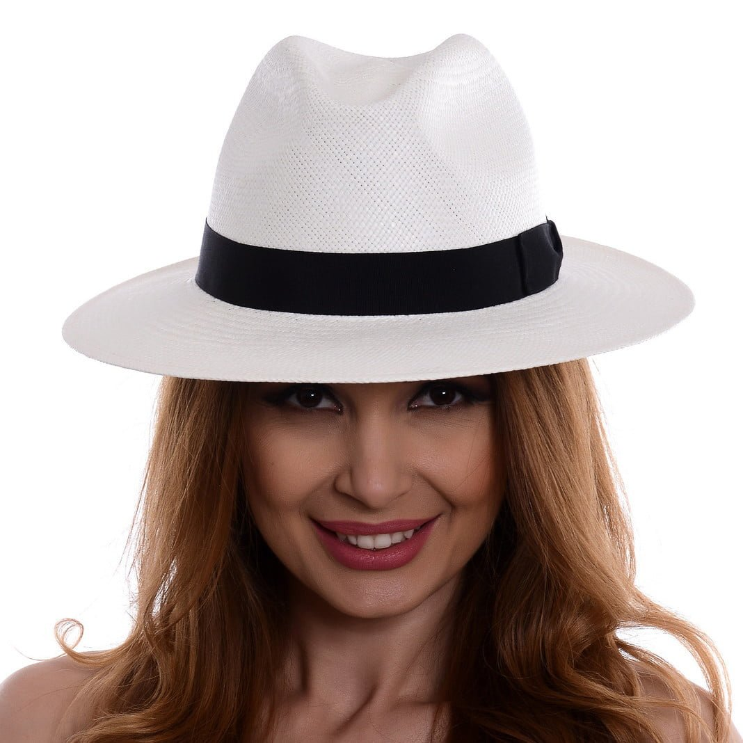 Pălărie Panama Bonnie bianco/nero