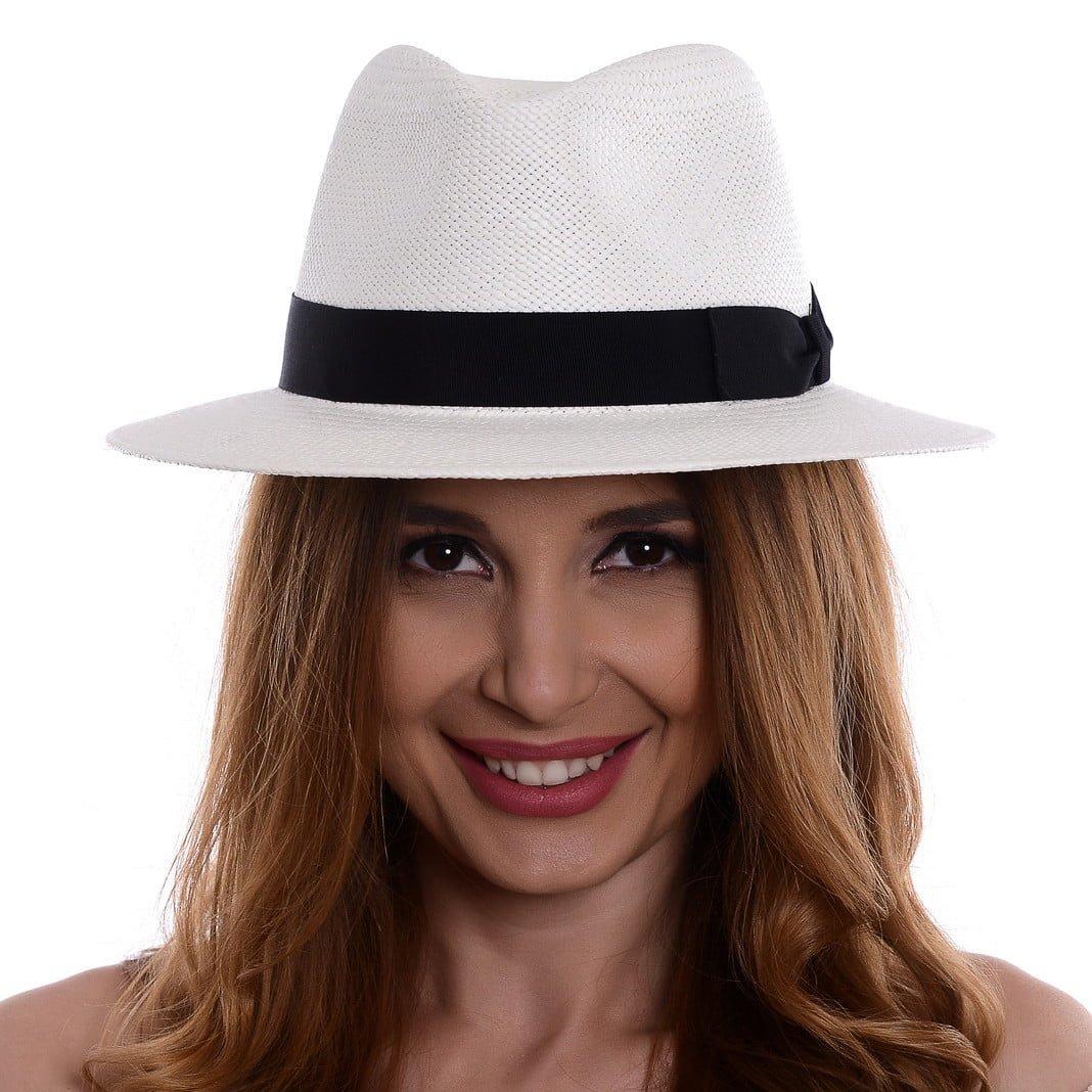 Pălărie Panama Jazz bianco/nero