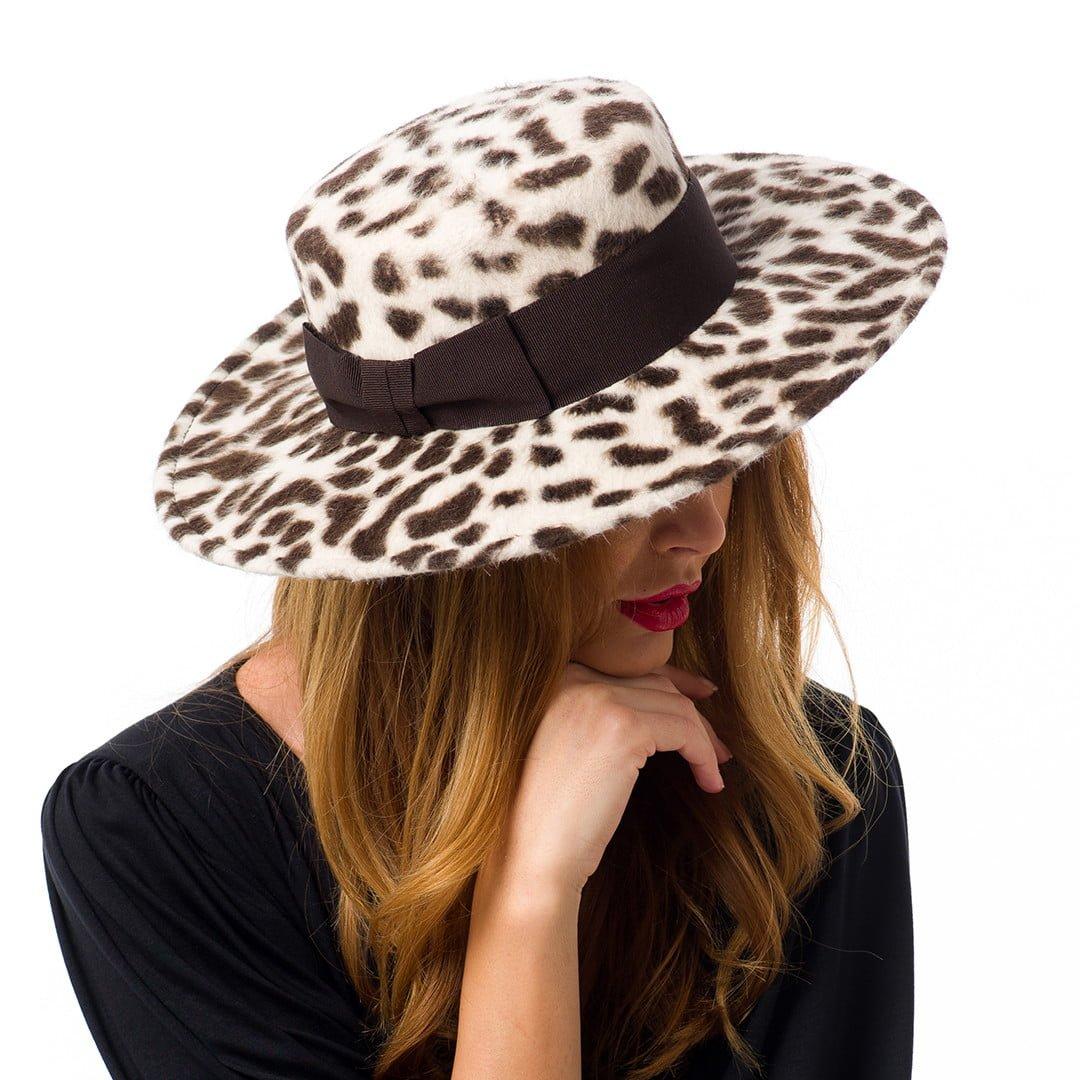Canotiera Antonia, din fetru de iepure, leopard print