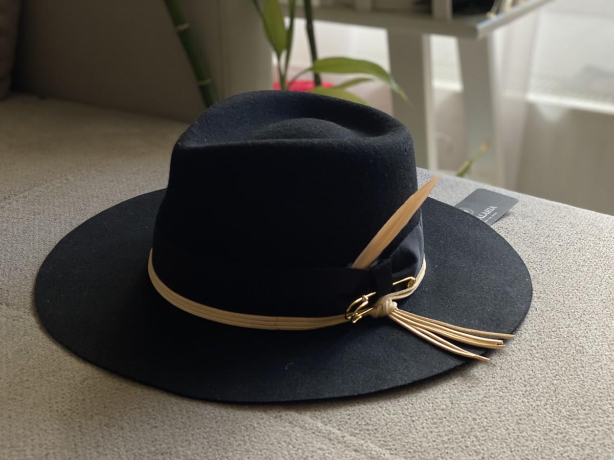 Palarie neagra, personalizata, COD 003008