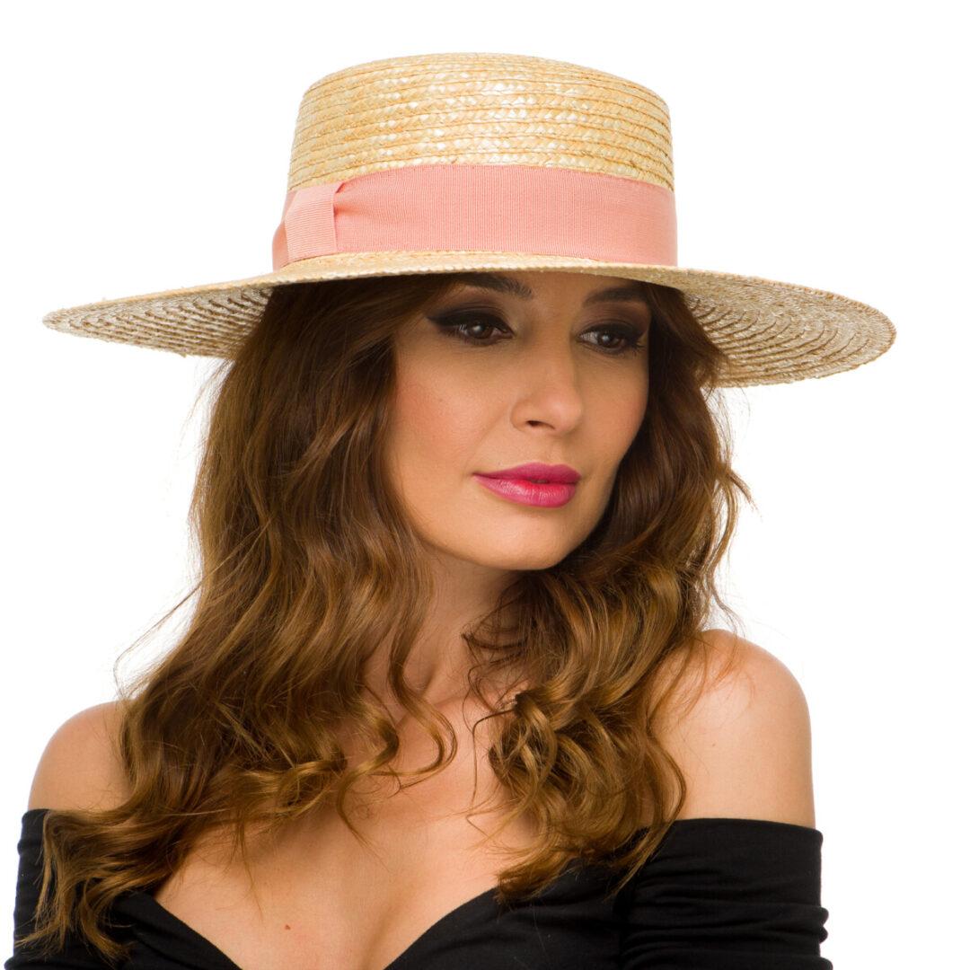 Palarie Martha nat/pink