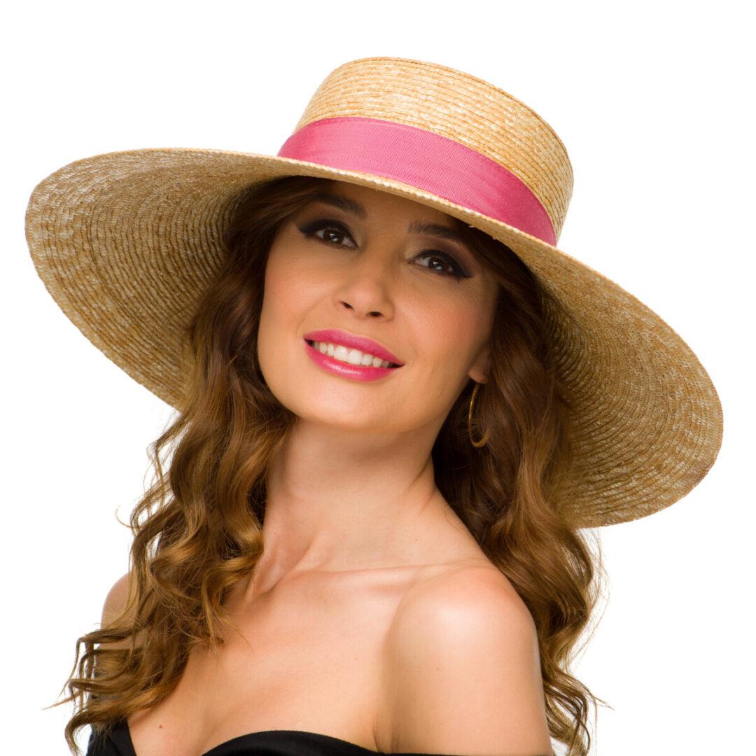Palarie Roya nat/pink