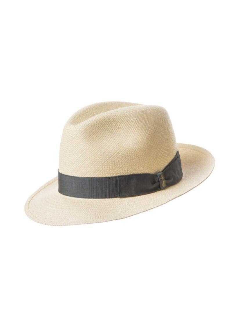 Borsalino Panama bor mic alb/gri