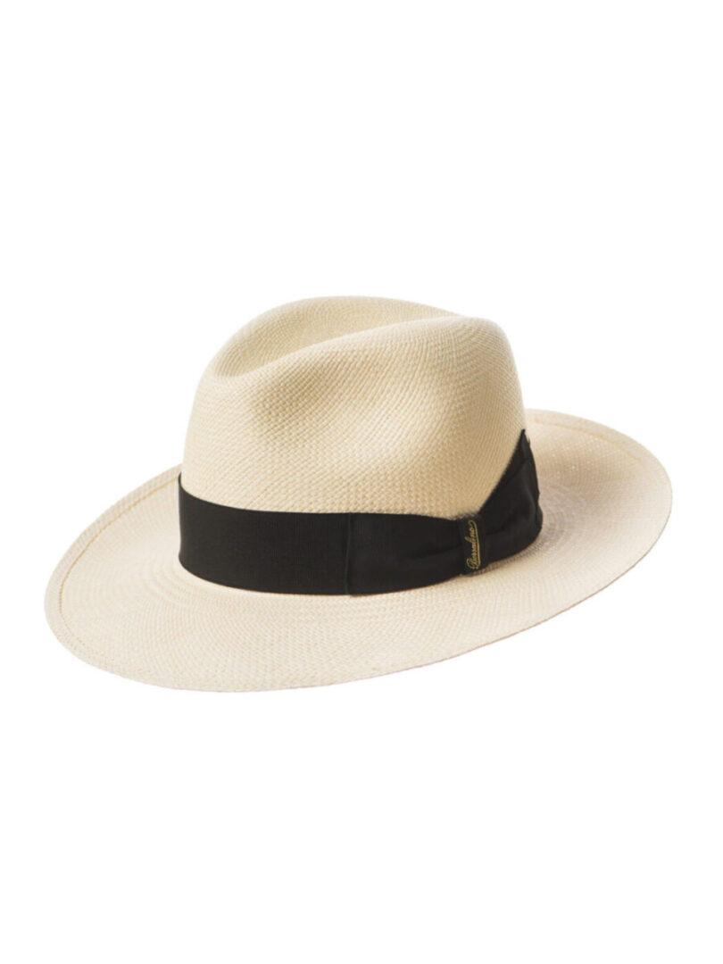 Borsalino Panama bor Mare alb/negru